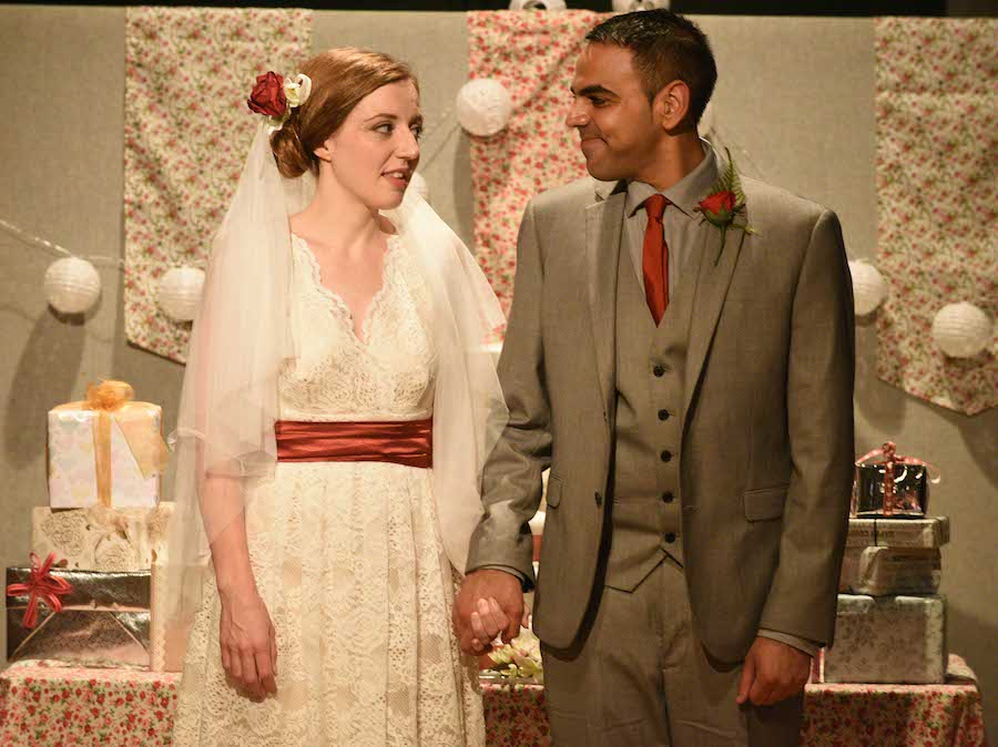 Theatre show set out like a real wedding